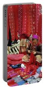 Flower Hmong Fabric Stall Portable Battery Charger