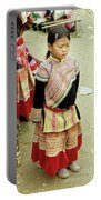 Flower Hmong Girl 04 Portable Battery Charger
