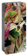 Flower Hmong Mother And Baby Portable Battery Charger