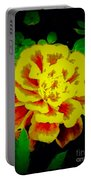 Flower In Abstract With Black Background Portable Battery Charger