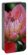 Flower In Stain Glass Portable Battery Charger