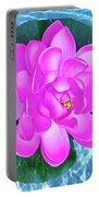 Flower In The Pool Portable Battery Charger