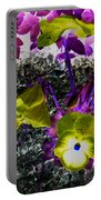 Flower Like Purple And Yellow Portable Battery Charger