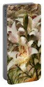 Flower - Lily - White Lily Portable Battery Charger