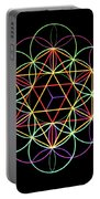 Flower Of Life Portable Battery Charger