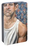Flower Of Louis, 11x14 Inches Ol On Panel By Kenney Mencher  Portable Battery Charger