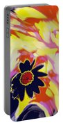 Flower On The Beach Portable Battery Charger