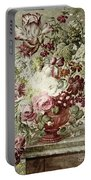 Flower Painting Portable Battery Charger