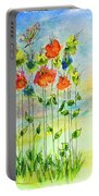 Flower Patch With Butterfly Portable Battery Charger