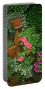 Flower Pot Tapestry Portable Battery Charger