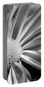 Flower Run Through It Black And White Portable Battery Charger