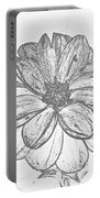Flower Sketch Portable Battery Charger