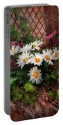 Flower - Still - Seat Reserved Portable Battery Charger by Mike Savad
