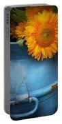 Flower - Sunflower - Little Blue Sunshine  Portable Battery Charger