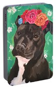 Flower The Pitbull Portable Battery Charger