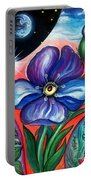 Flower With Eye. Plant From Space Portable Battery Charger