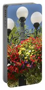 Flowered Lamppost Portable Battery Charger