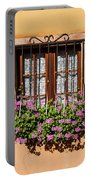 Flowered Window # II Portable Battery Charger