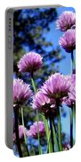 Flowering Chives Portable Battery Charger