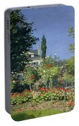 Flowering Garden At Sainte-adresse Portable Battery Charger