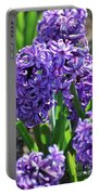 Flowering Purple Hyacinthus Flower Bulb Blooming Portable Battery Charger