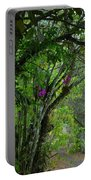 Flowering Trees Near The Path Portable Battery Charger