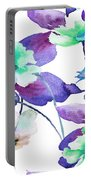 Flowers 01 Portable Battery Charger