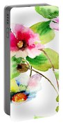 Flowers 03 Portable Battery Charger