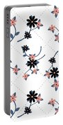 Flowers All Around Portable Battery Charger