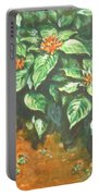 Flowers And Earth Portable Battery Charger