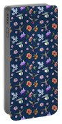 Flowers And Hummingbirds 2 Portable Battery Charger by Rachel Lee Young