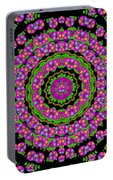 Flowers And More Floral Dancing A Power Peace Dance Portable Battery Charger