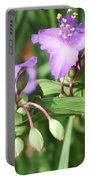 Flowers And Raindrops Portable Battery Charger