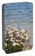 Flowers At The Lake Portable Battery Charger