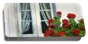Flowers At The Window Portable Battery Charger