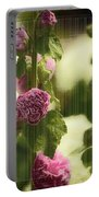 Flowers Behind The Screen Portable Battery Charger