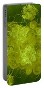 Flowers, Buttons And Ribbons -shades Of Chartreuse Portable Battery Charger
