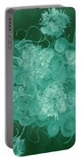 Flowers, Buttons And Ribbons -shades Of Green Portable Battery Charger