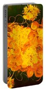 Flowers, Buttons And Ribbons -shades Of Orange/yellow  Portable Battery Charger