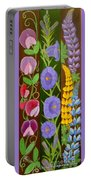Flowers Composition 6 Portable Battery Charger