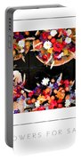 Flowers For Sale Poster Portable Battery Charger