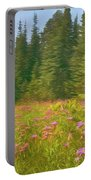 Flowers In A Mountain Glade Portable Battery Charger