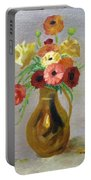 Flowers In A Pitcher -11 Yrs Old Portable Battery Charger