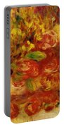 Flowers In A Vase With Blue Decoration Portable Battery Charger