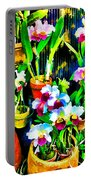 Flowers In Abstract 18 Portable Battery Charger