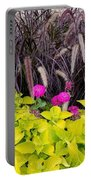 Flowers In Contrast Portable Battery Charger