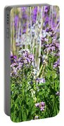 Flowers In The Field  Portable Battery Charger