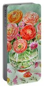 Flowers In The Glass Vase Portable Battery Charger