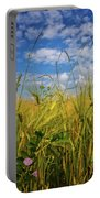 Flowers In The Wheat Portable Battery Charger