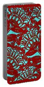 Flowers Indigo Red And Blue Portable Battery Charger